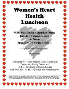Women's Heart Health Luncheon @ MSU Extension Service