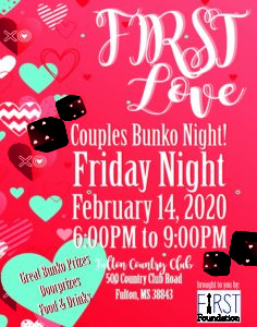 FIRST Love Couples Bunko Night @ Fulton Country Club