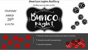 Bunco Night @ The American Legion Auxiliary Unit 51