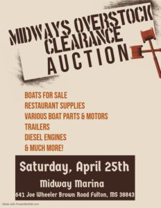 Overstock Clearance Auction @ The Midway Marina